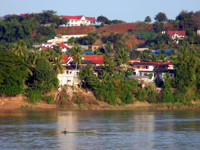 Download Huay Xai. Laos imagem de stock. Imagem de mekong, lugares - 79699