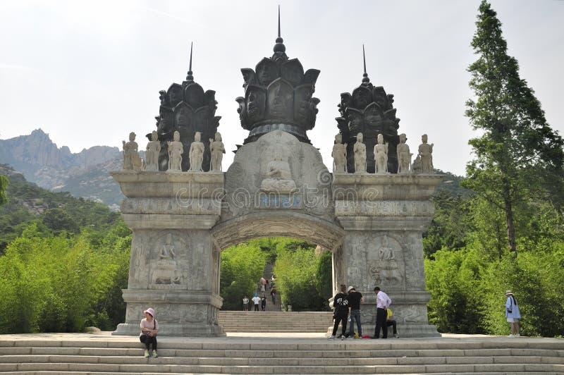 Huayan Świątynna brama Qingdao Chiny obraz stock