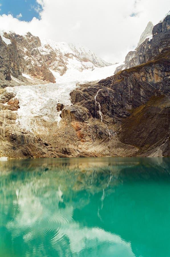 huayhuash jezioro Peru zdjęcia stock