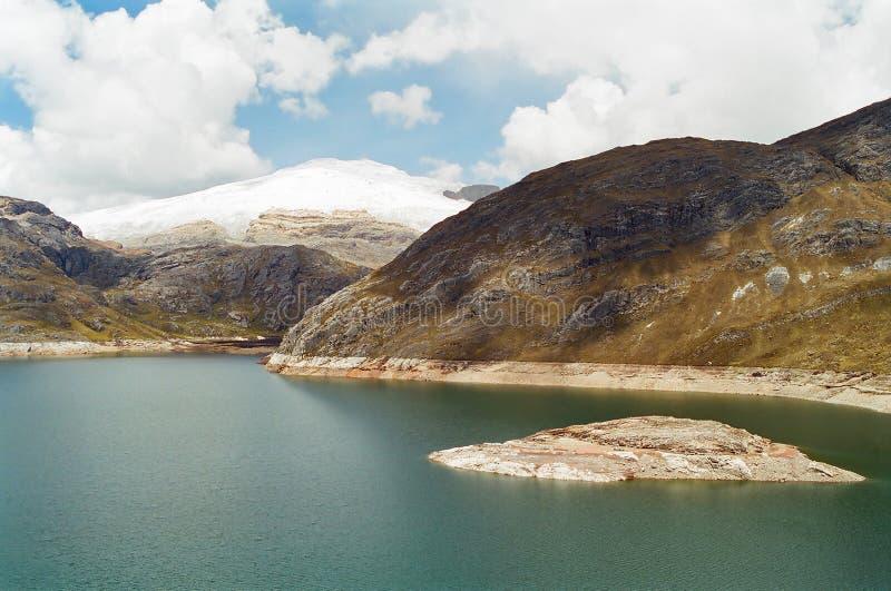 huayhuash jezioro Peru zdjęcie stock