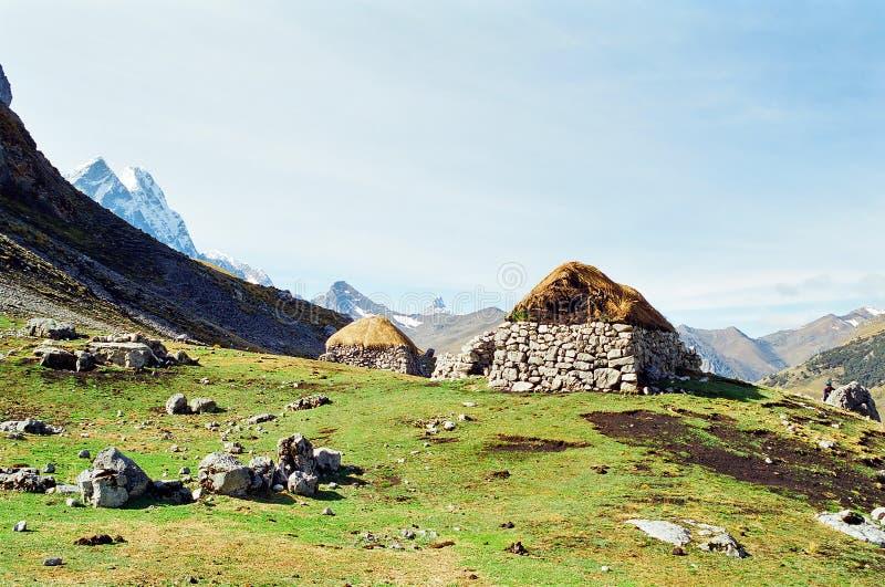 huayhuash Peru wędrówka zdjęcie royalty free