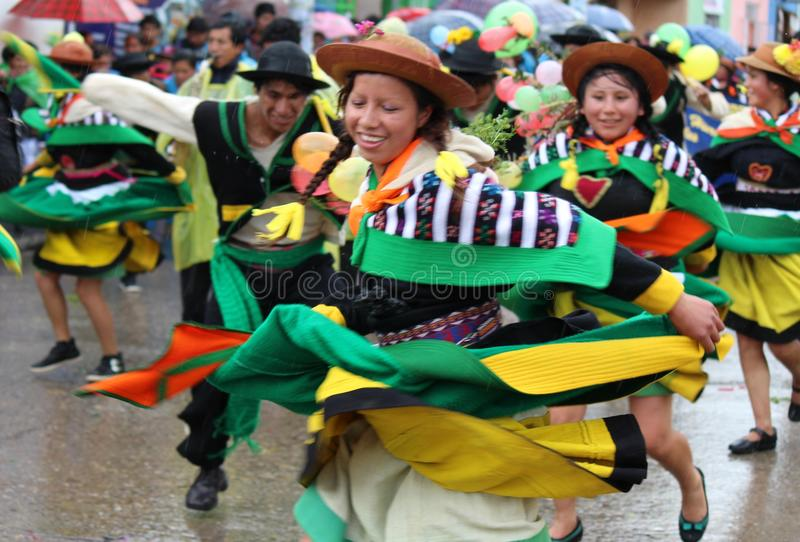 Huaylash folclo'rico antigo da dança imagem de stock