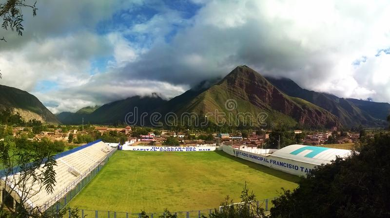 Stadium in the Sacred Valley, Cusco. stock photo