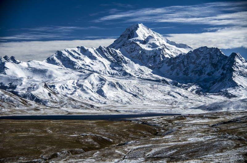 Huayna Potosi, Bolívia imagens de stock