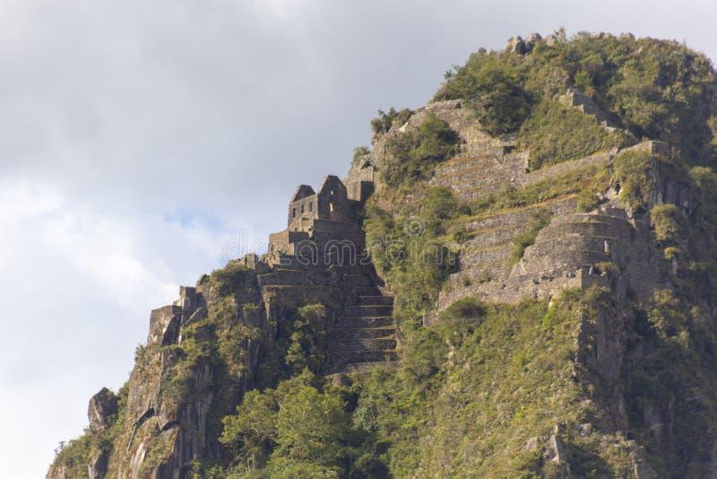 Huaynapicchu Mountain, Machu Picchu, Peru - Ruins of Inca Empire city. Background, cusco, tree, cloud, forest, culture, america, landmark, civilization, mist stock photos