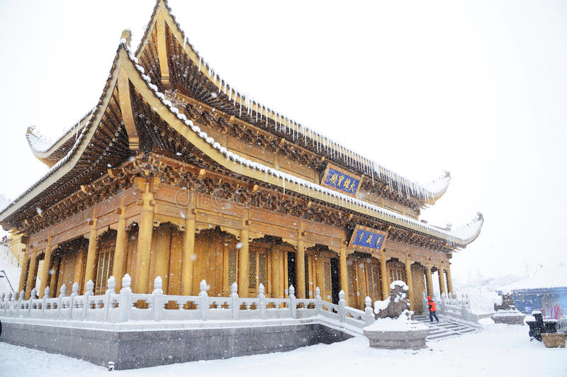 Download Huazhang temple of MT.Emei editorial stock photo. Image of coldness - 18624428