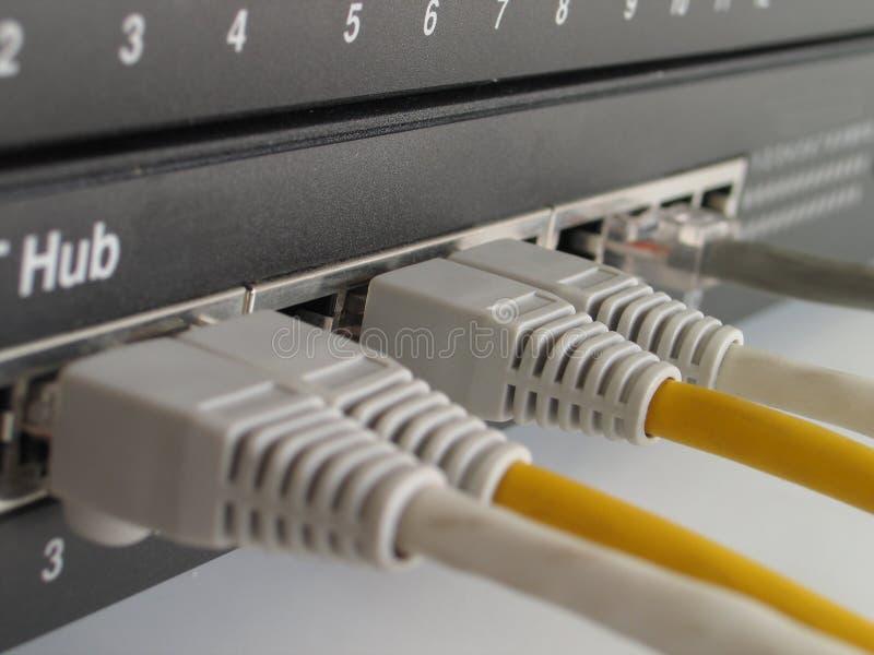 Hub de réseau image stock