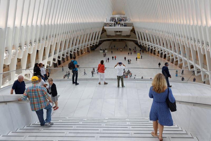Hub de transport de World Trade Center photos libres de droits