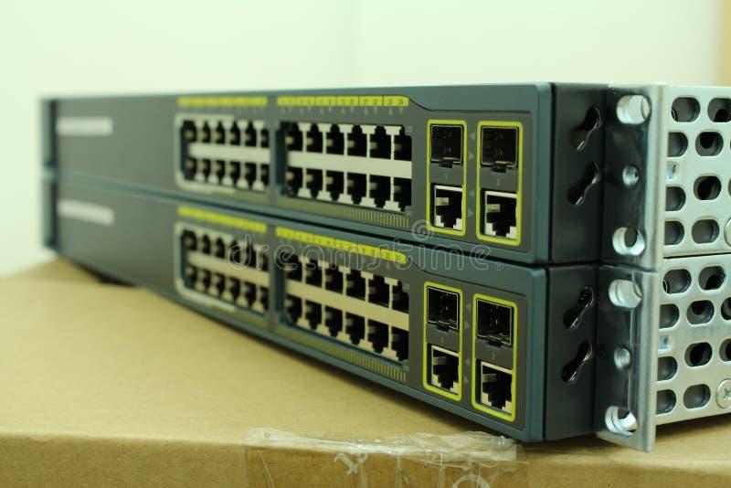 Hub del computer di Ethernet fotografia stock