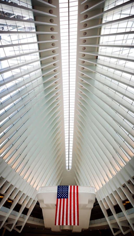 Hub del trasporto del World Trade Center dell'occhio in NYC fotografia stock