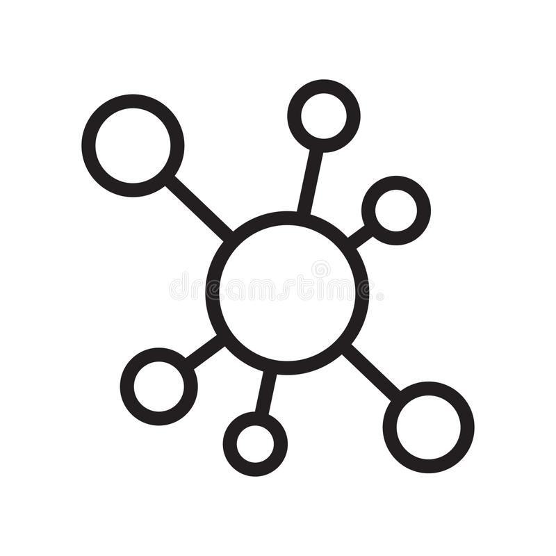 Hub network connection icon. Vector illustration on white background vector illustration