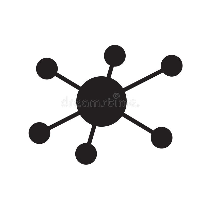 Hub network connection icon stock illustration