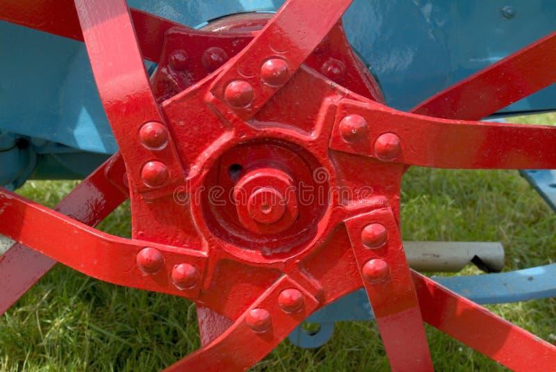 Hub of old tractor wheel