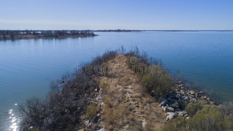Hubbard Creek Reservoir, TX royalty free stock photography