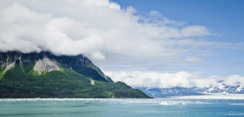 Hubbard glaciär Alaska USA fotografering för bildbyråer