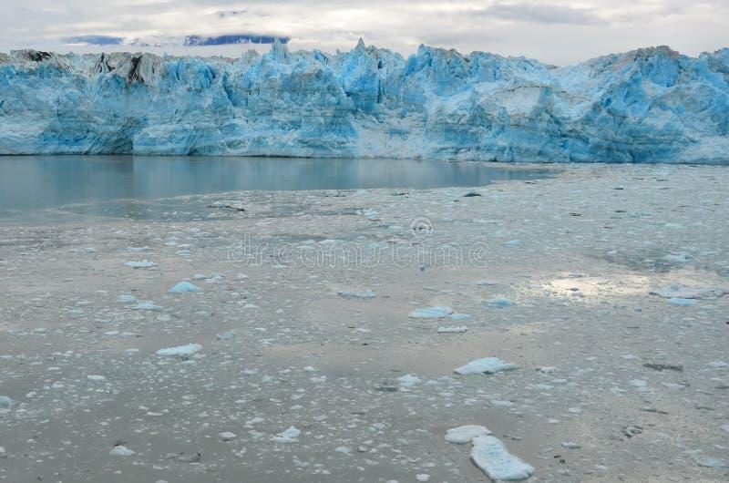 Hubbard glaciär, Alaska & Yukon Kanada royaltyfria bilder