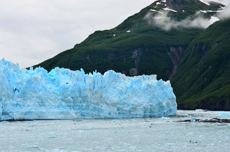 Hubbard glaciär, Yukon, Alaska royaltyfria foton