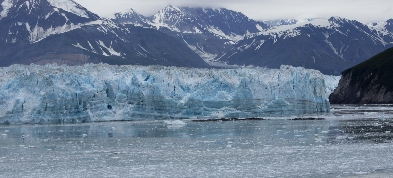 Hubbard Glacier. In Glacier Bay National Park, Alaska USA stock photos