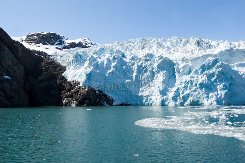 Hubbard Glacier. In Seward, Alaska stock photos
