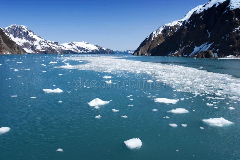 Hubbard Glacier. In Seward, Alaska stock photo