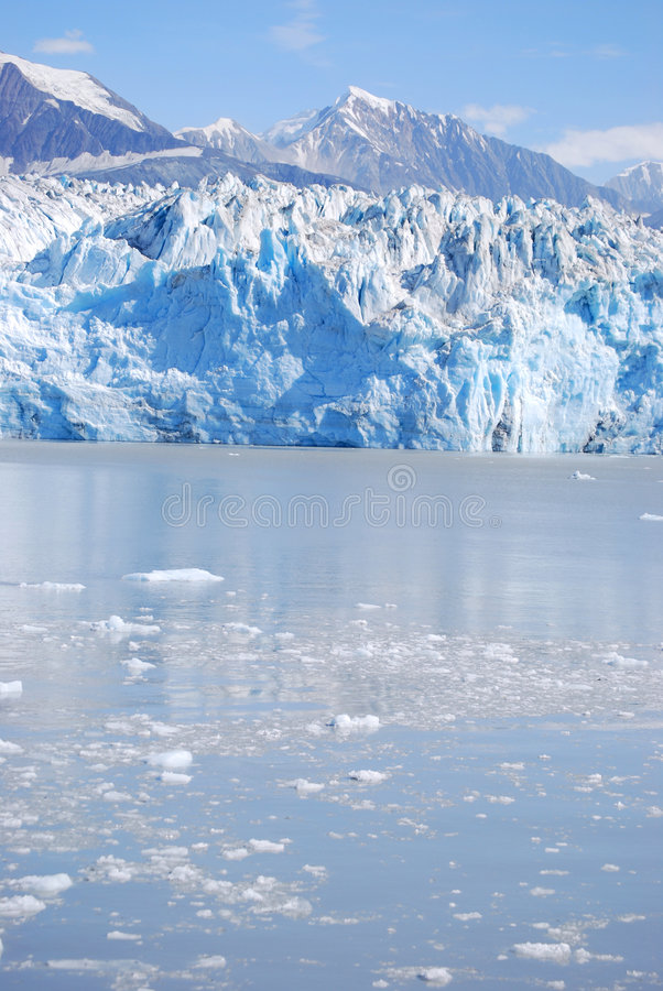 Hubbard Glacier. View of Hubbard Glacier, near Juneau, Alaska stock image
