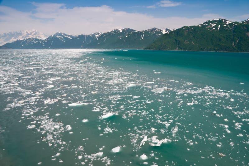 Hubbard Glacier, Alaska. Scenery around Hubbard Glacier in Alaska royalty free stock image
