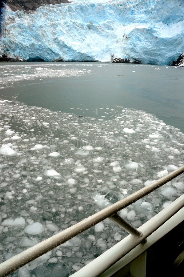 Hubbard glacier, Alaska. This is the hubbard glacier, in Alaska stock photography