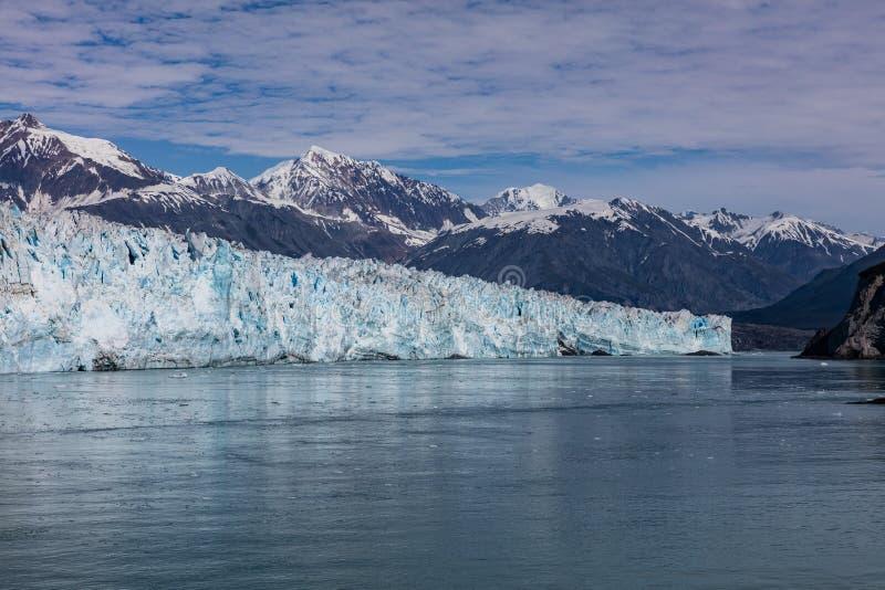 Hubbard Glacier in Alaska. Hubbard Glacier calving into the ocean at Disenchantment Bay, Alaska stock photo