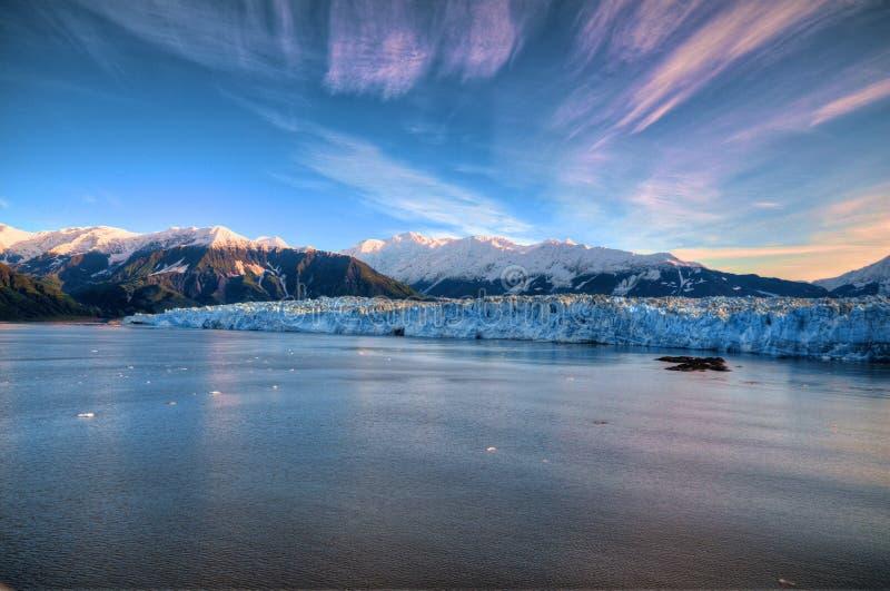 Hubbard Glacier. Alaska Rays and Hubbard Glacier royalty free stock photography