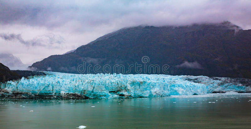 Hubbard Glacier Alaska. Hubbard Glacier, Alaska, USA - Sept. 11, 2016: This tidewater glacier is located in eastern Alaska and is part of Yukon Canada, off the royalty free stock photo