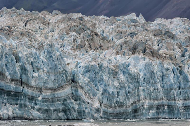 The Hubbard Glacier. While melting, Alaska stock photo