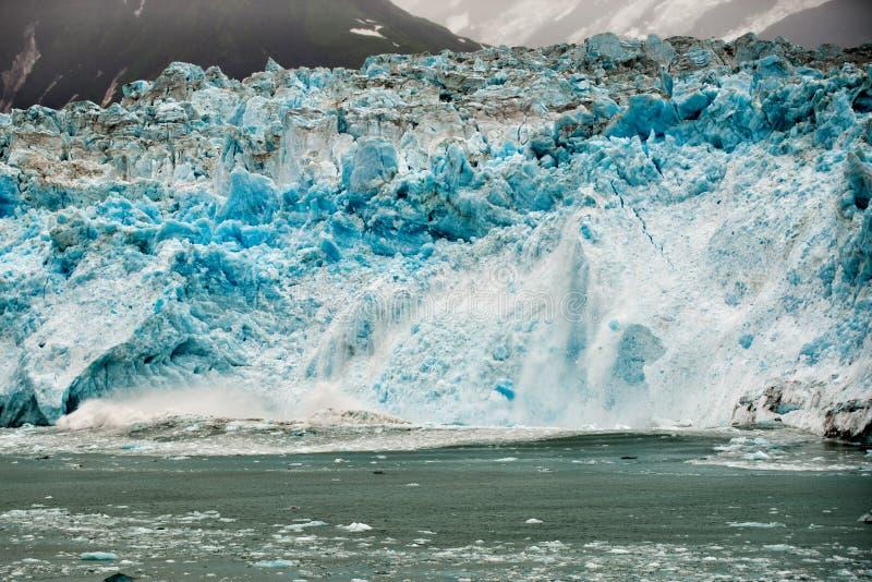 Hubbard Glacier while melting in Alaska. The Hubbard Glacier while melting in Alaska stock photos