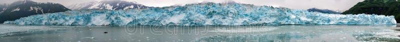 Hubbard Glacier while melting Alaska. Hubbard Glacier while melting, Alaska huge panorama landscape stock image