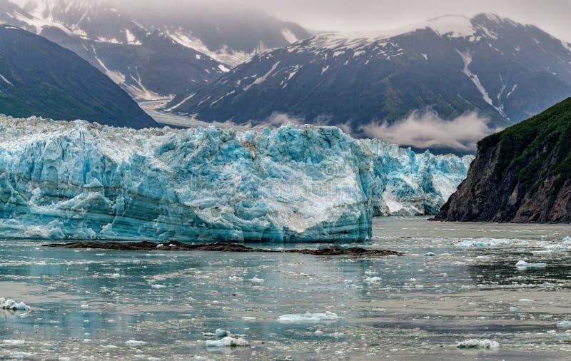 Hubbard Glacier while melting Alaska. Hubbard Glacier while melting, Alaska huge panorama landscape stock photo