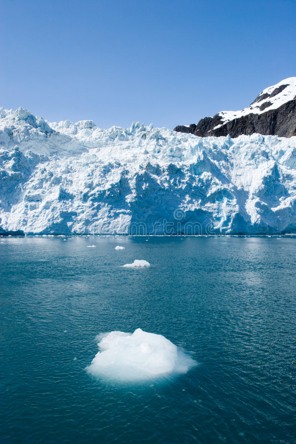Hubbard Glacier in Seward, Alaska. Traveling to Hubbard Glacier in Alaska royalty free stock images
