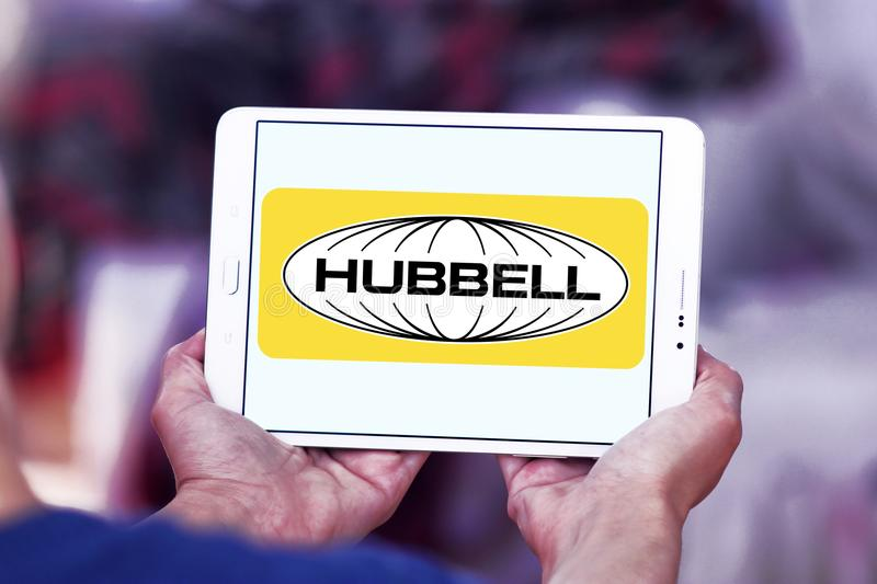 Hubbell incorporou o logotipo fotos de stock