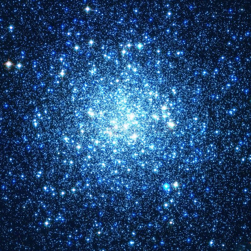 Blue Cluster Stars Galaxy Enhanced Universe Image Elements From NASA / ESO | Galaxy Background Wallpaper vector illustration