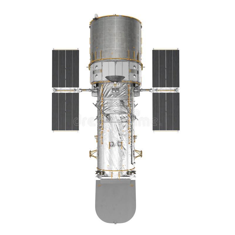 Hubble Space Telescope Isolated On vit Backgrouns 3d illustration, bästa sikt royaltyfri illustrationer