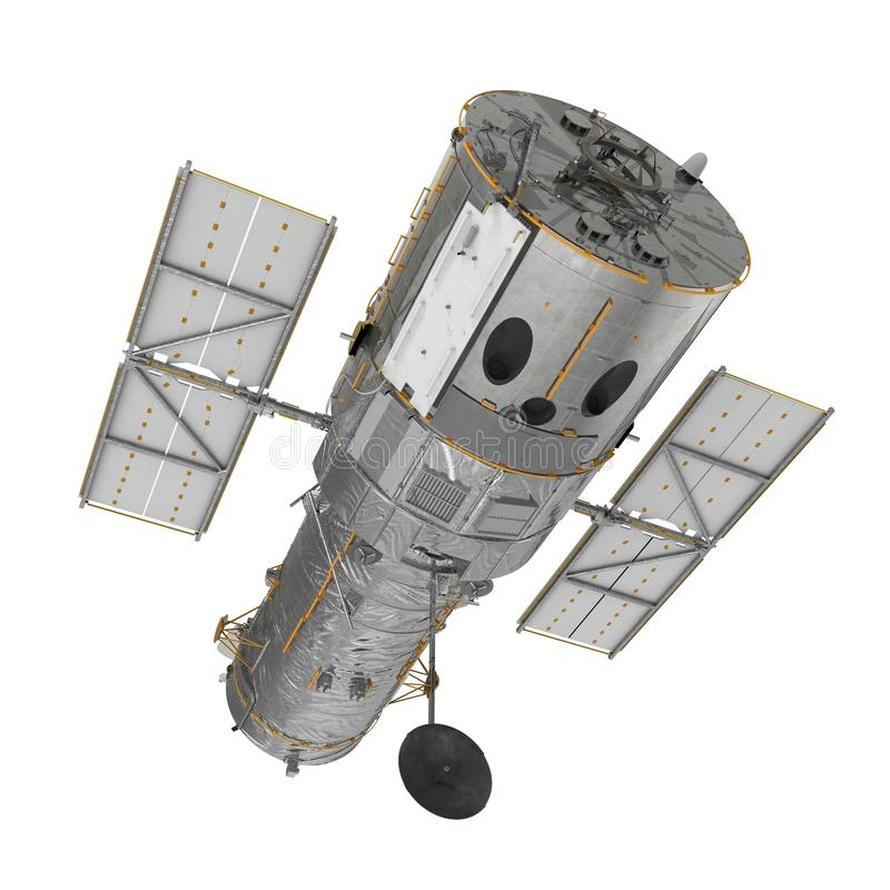 Hubble Space Telescope Isolated On White Backgrouns. 3D Illustration. Hubble Space Telescope On White Backgrouns. 3D Illustration, isolated stock photo