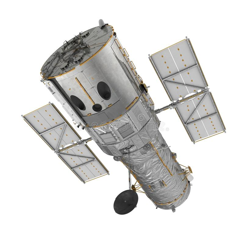 Hubble Space Telescope Isolated On Witte Backgrouns 3D Illustratie stock foto