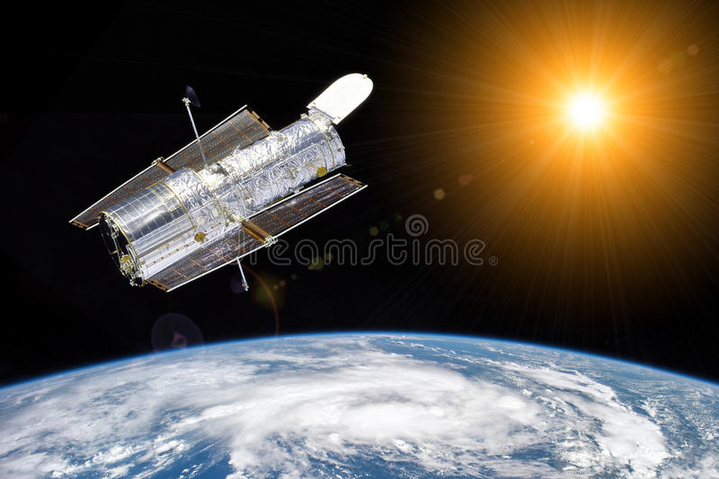 Hubble telescope - elements of this image furnished by NASA royalty free stock image