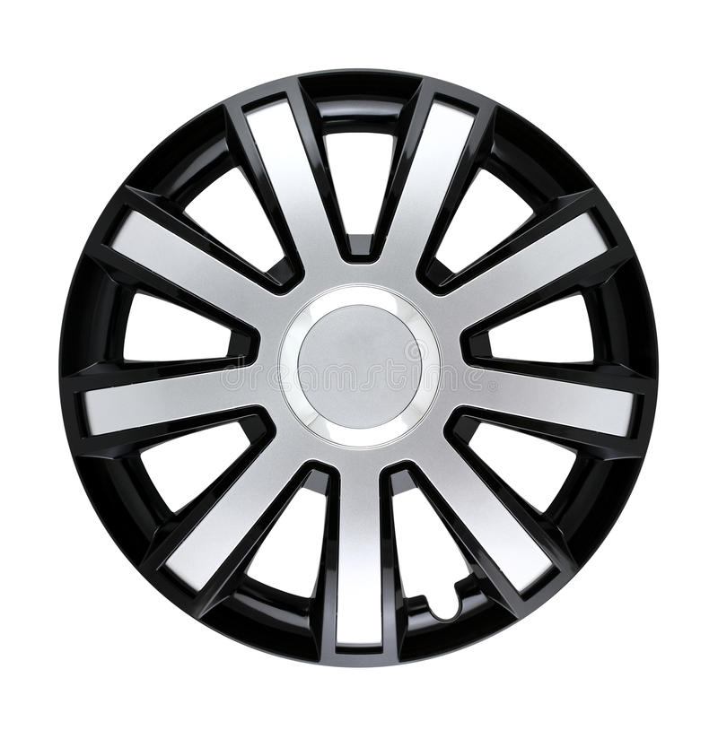 Hubcap isolated. A photo of a hubcap isolated over white background. Clipping path included stock images