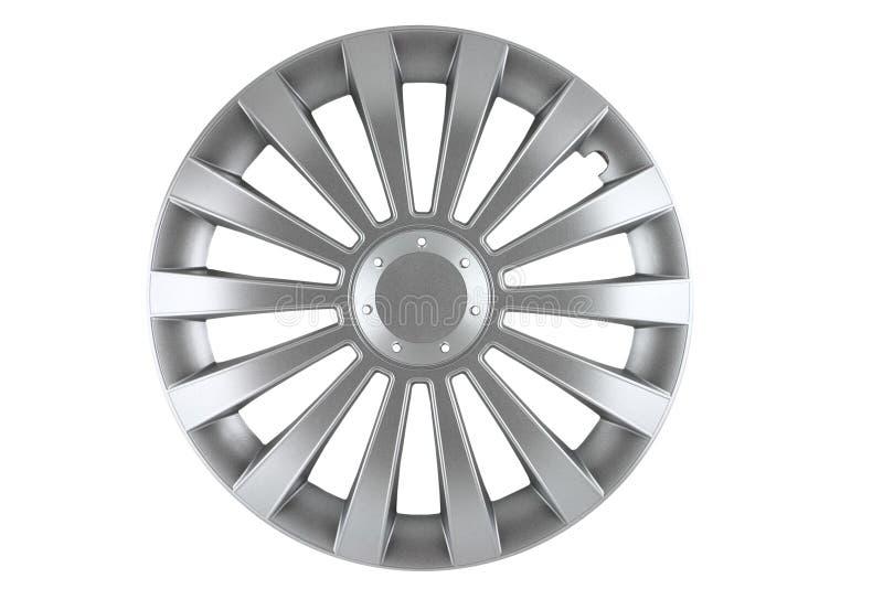 hubcap odizolowywał fotografia stock