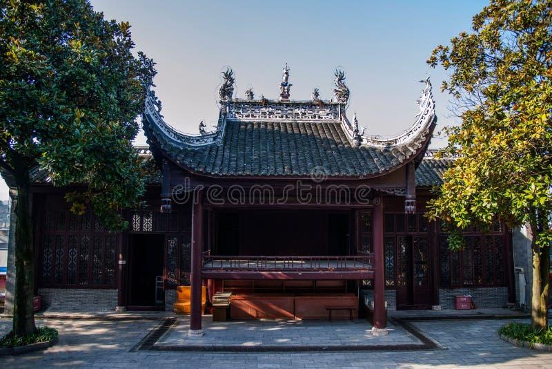 Hubei Yiling Huangling tempel arkivbild