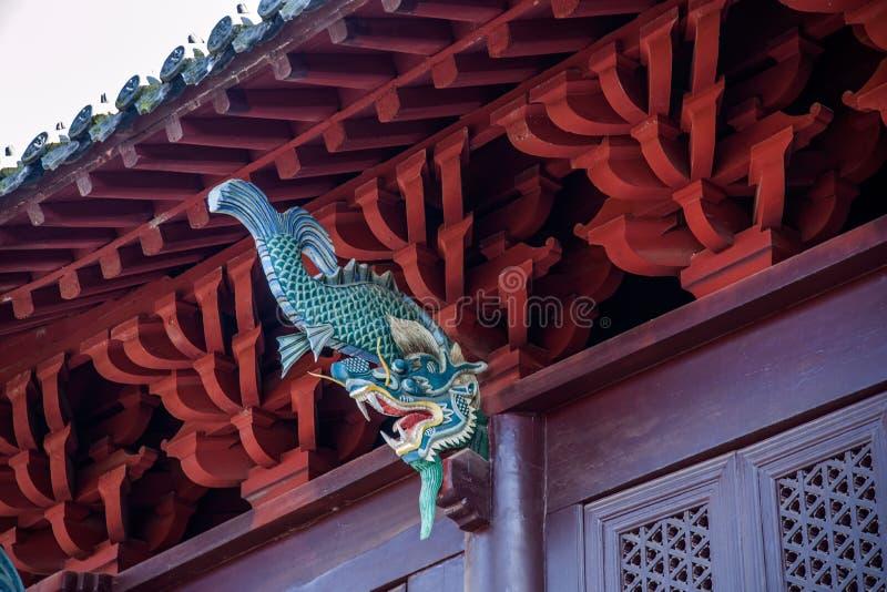 Hubei Yiling Huangling tempel royaltyfri foto