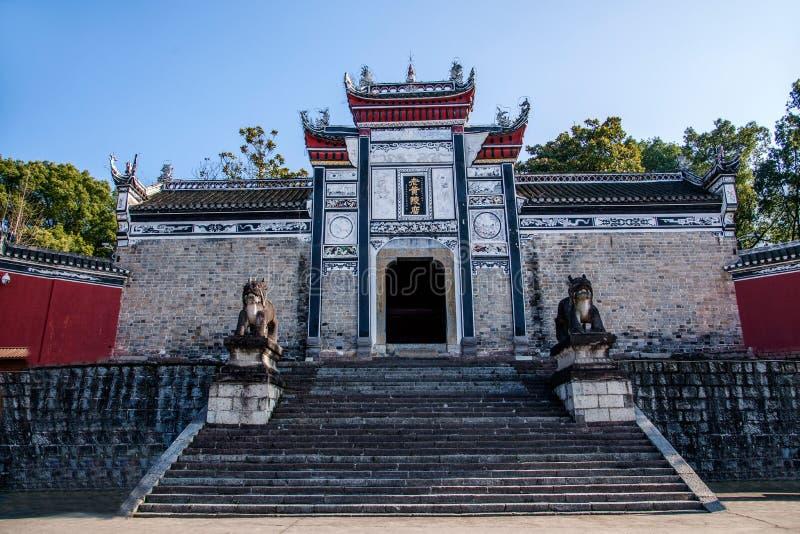 Hubei Yiling Huangling tempel royaltyfria foton