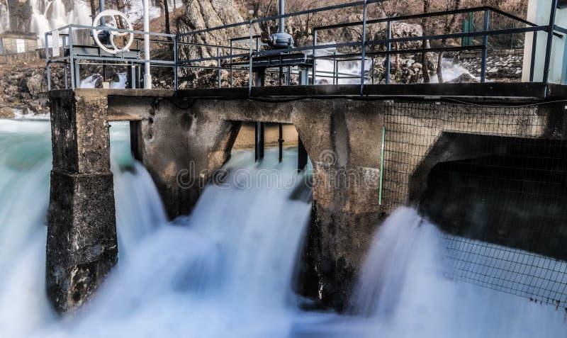 Hubelj river in Ajdovscina, Slovenia. Hubelj Spring Izvir Hubelj below Trnovski gozd in Ajdovščina, Slovenia royalty free stock photos