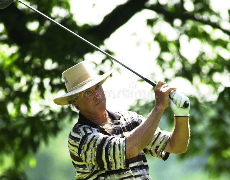 Hubert Green. Professional Golf star Hubert Green. Image taken from color slide royalty free stock photography