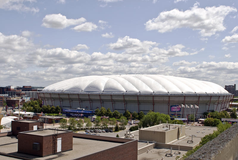 Hubert Humphrey Metrodome Stadium. The Hubert H. Humphrey Metrodome will be demolished in 2014. The Metrodome was a domed sports stadium located in downtown stock photos