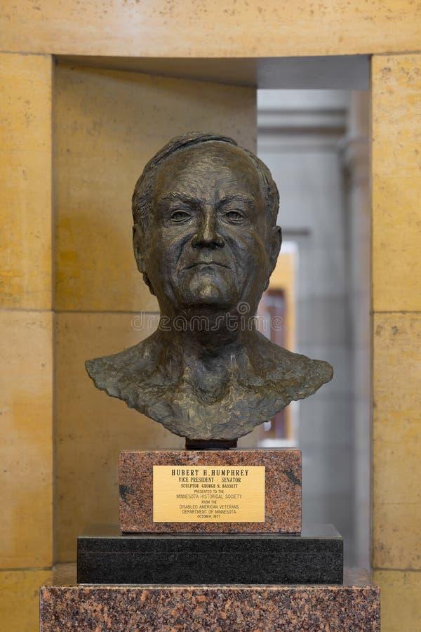 Hubert Humphrey statue royalty free stock photo